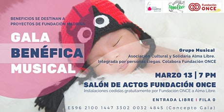 Gala Benéfica Musical a beneficio de Fundación Madrina. entradas