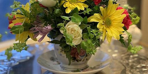 Mother's Day Tea Cup Floral Arrangement Workshop