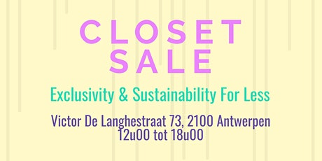 Closet Sale | Belgian Influencers Edition tickets