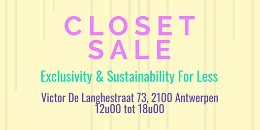 Closet Sale | Belgian Influencers Edition