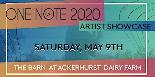 One Note Artist Showcase 2020