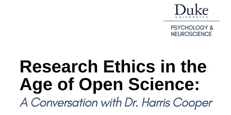Research Ethics in the Age of Open Science tickets