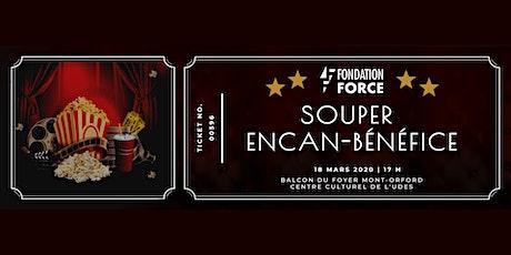 Souper encan-bénéfice Fondation FORCE billets