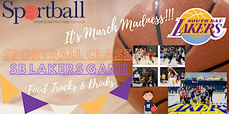 SPORTBALL Class (Ages 2 - 12 yrs) & South Bay LAKERS Game tickets