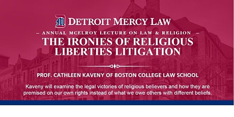 McElroy Lecture on Law & Religion tickets