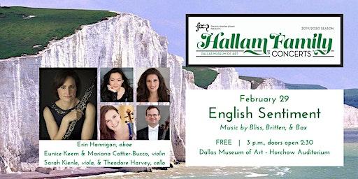 Hallam Family Concerts: English Sentiment