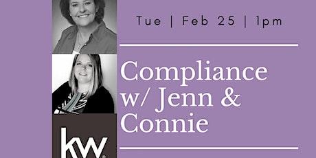 Compliance w/ Jenn & Connie tickets