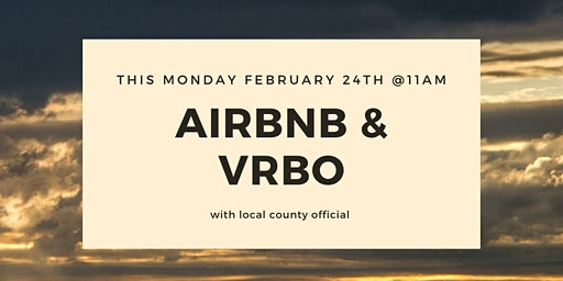 Air BNB and VRBO with County Official