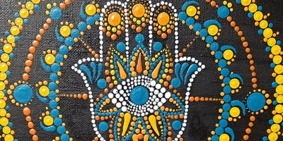 Hamsa Mandala Dot Painting and Mimosa Sunday Brunch at Brush & Cork