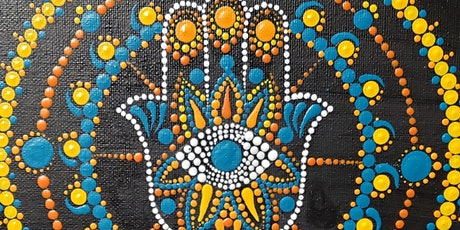Hamsa Mandala Dot Painting and Mimosa Sunday Brunch at Brush & Cork tickets
