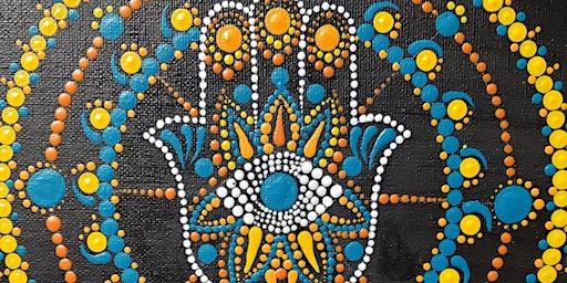 Hamsa Mandala Dot Painting and Mimosa Sunday Brunch at Brush & Cork