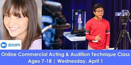 Online Commercial Acting & Audition Technique Class tickets