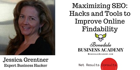Bonedale Business Academy Masterclass: Optimizing Your Business' SEO tickets