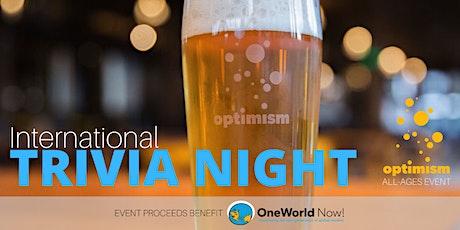 International Trivia Night tickets