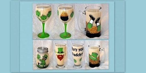 Paint a St. Patrick's Day Glass