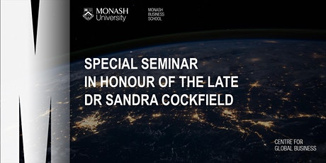Special Seminar in Honour of The Late Dr Sandra Cockfield tickets