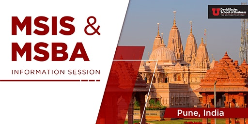 MSIS & MSBA Information Session| Pune INDIA