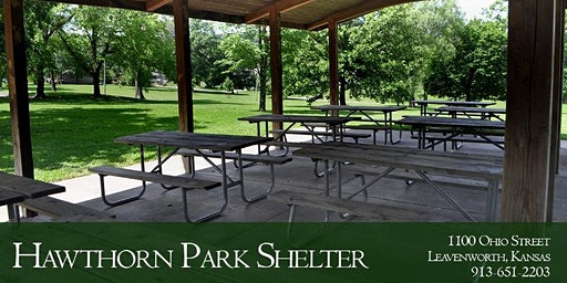 Park Shelter at Hawthorn Park - Dates in February and March