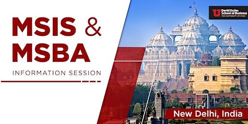 MSIS & MSBA Information Session| Delhi INDIA
