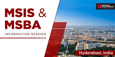 MSIS & MSBA Information Session| Hyderabad INDIA tickets