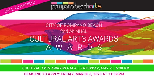CALL FOR ENTRIES - 2nd Annual Pompano Beach Cultural Arts Awards
