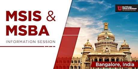 MSIS & MSBA Information Session  Bangalore INDIA tickets