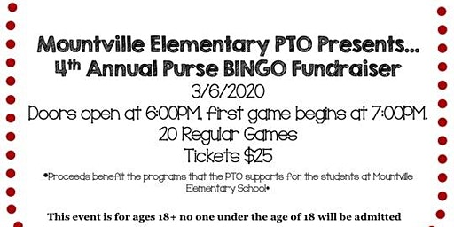 Mountville PTO Purse BINGO Fundraiser