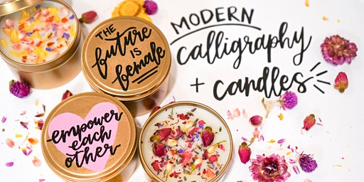 Women for Women Calligraphy + Candle Making Workshop