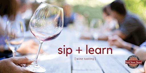 Sip + Learn Wine Tasting