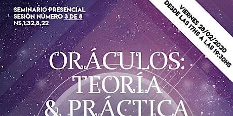 Oráculos: Teoría y Práctica III (Seminario Presencial) entradas