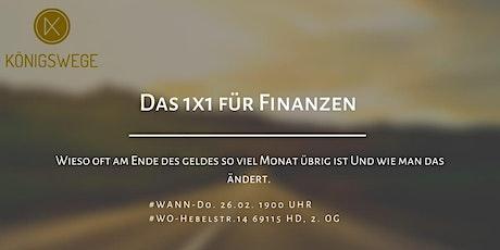 1x1 der Finanzen Tickets