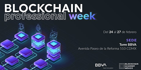 Blockchain Professional Week boletos