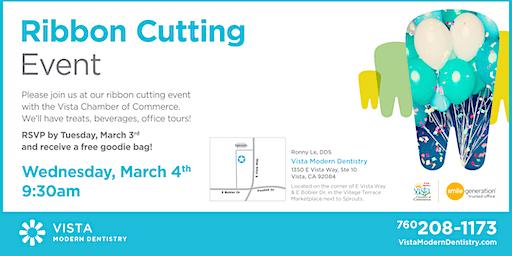 Vista Modern Dentistry's Grand Opening & Ribbon Cutting!