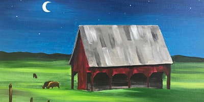 Moonlight Barn Paint Party at Brush & Cork