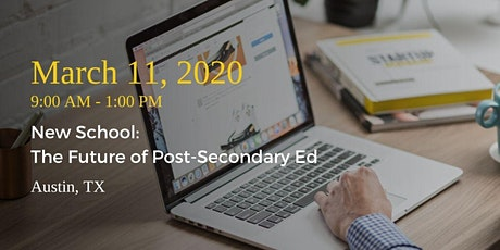 New School: The Future of Post-Secondary Ed tickets
