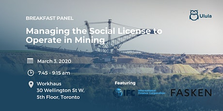Breakfast Panel: Managing the Social License to Operate in Mining tickets