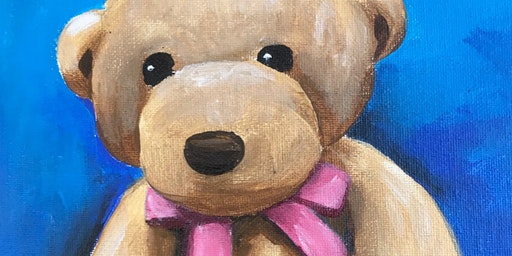Kids & Grown-Ups Teddy Bear Paint Party at Brush & Cork