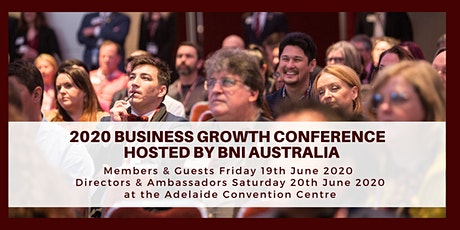 2020 Business Growth Conference - hosted by BNI tickets