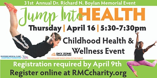 "31st Annual ""Jump Into Health"" FREE Childhood Health & Wellness Event"