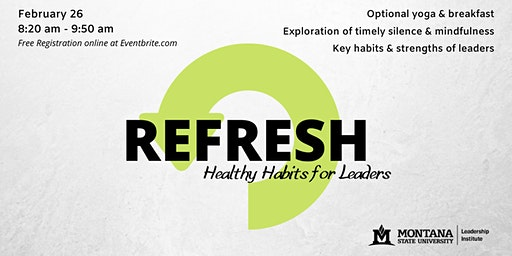 Refresh: Healthy Habits for Leaders