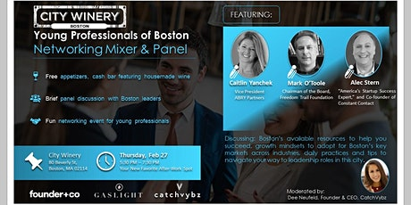 City Winery Young Professionals of Boston Networking Mixer & Panel tickets