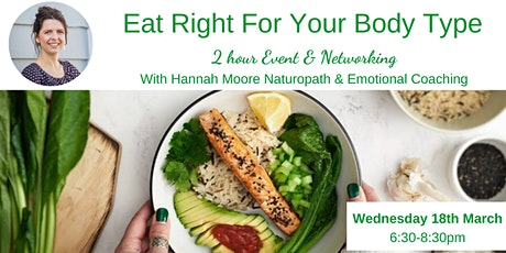 Eat Right For Your Body Type - Sunshine Coast tickets