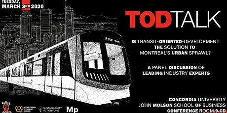 TOD Talk: Is Transit-Oriented-Development the Solution to Montreal's Urban Sprawl? tickets
