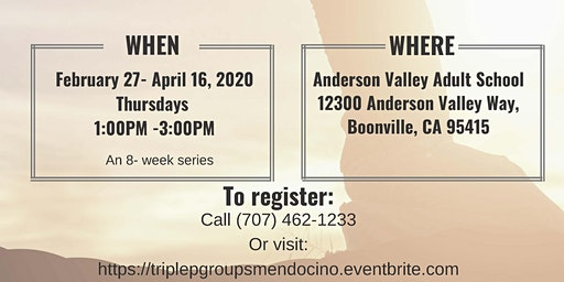 Triple P Parenting Group - BOONVILLE [February 27 - April 16, 2020]
