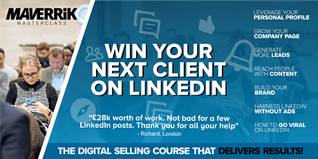 Win your next client on LinkedIn - BRISTOL -Grow  your business on LinkedIn tickets