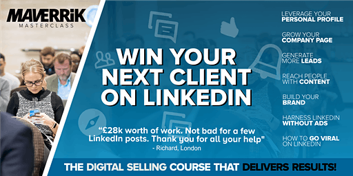 Win your next client on LinkedIn - BRISTOL -Grow  your business on LinkedIn