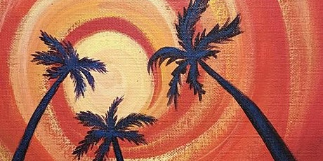 'Palm Sunset' - Painting and Sip Event tickets