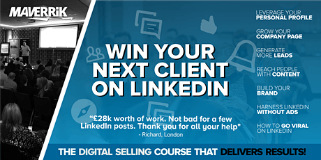 Win your next client on LinkedIn BELFAST Grow your business on LinkedIn tickets