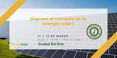 ¡Ingrese al mercado de la energía solar! Curso Técnico y práctico ingressos