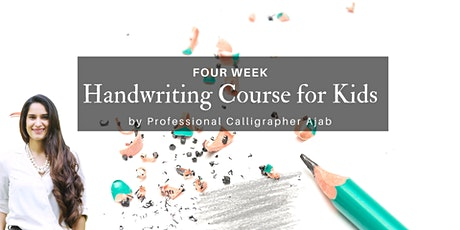 4-Week Handwriting Course for Kids tickets
